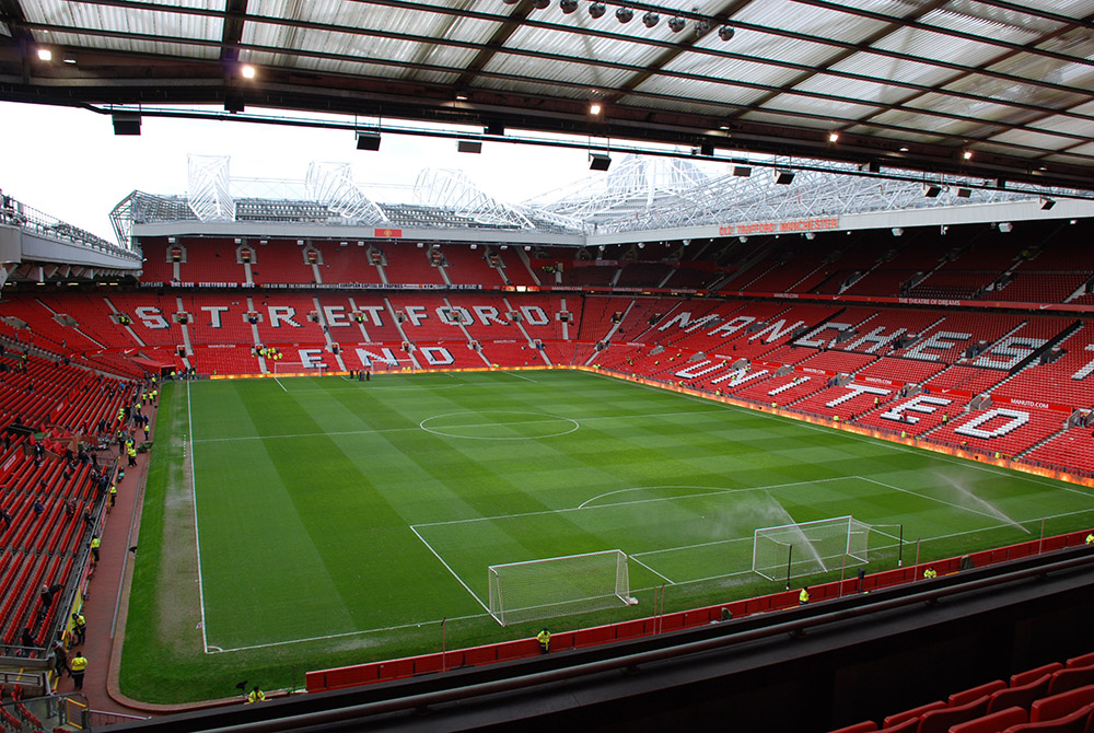 Old Trafford'dan bir görünüm..